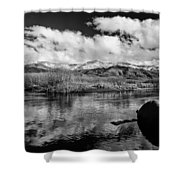 Lower Owens River Shower Curtain