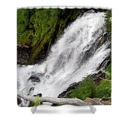 Lower Part Of Red Blanket Falls Shower Curtain
