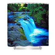 Lower Punchbowl Falls Shower Curtain