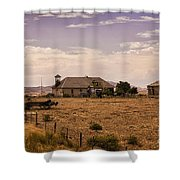 Lower Shell School House Shower Curtain