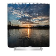 Lower Sunset Lake Shower Curtain