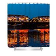 Lower Trenton Bridge Shower Curtain