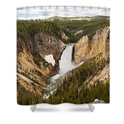 Lower Yellowstone Canyon Falls Shower Curtain