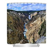 Lower Yellowstone Falls Panorama Shower Curtain