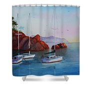 Lowered Sails Shower Curtain