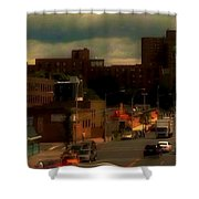Lowering Clouds Shower Curtain