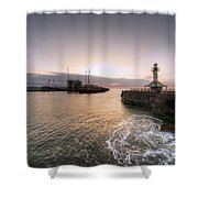 Lowestoft Harbour At Dawn Shower Curtain