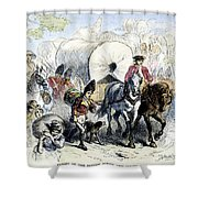 Loyalists & British, 1778 Shower Curtain