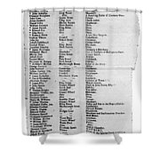 Loyalists, 1774 Shower Curtain