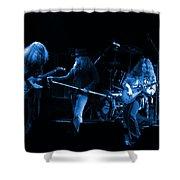 Ls Spo #26 Enhanced In Blue Shower Curtain