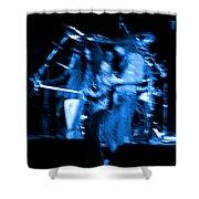 Ls Spo #67 Crop 2 In Blue Shower Curtain
