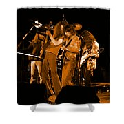 Ls Spo #68 Enhanced In Amber Shower Curtain