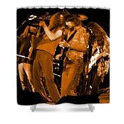 Ls Spo #68 Enhanced In Amber Fisheye Shower Curtain