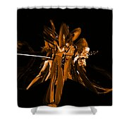 Ls Spo #68 Enhanced In Amber Squished Shower Curtain