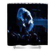 Ls Spo #79 Crop 2 In Blue Shower Curtain