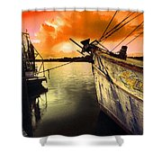 Lsu Shrimp Boat Shower Curtain