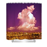 Lubriano, Italy, Infrared Photo Shower Curtain