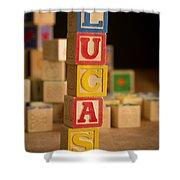 Lucas - Alphabet Blocks Shower Curtain