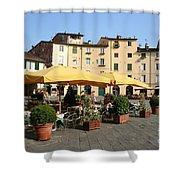 Lucca Piazza Del Mercato  Shower Curtain