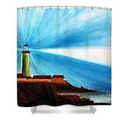 Luci Del Faro Shower Curtain