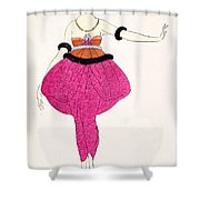Lucile - Design For A Dress Shower Curtain