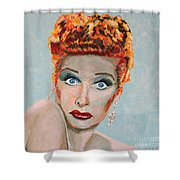Lucille Ball Portrait Shower Curtain