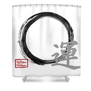 Luck - Zen Enso Shower Curtain