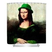 Lucky Mona Lisa Shower Curtain