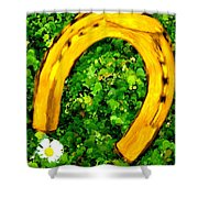 Lucky Wedding Horse Shoe Shower Curtain