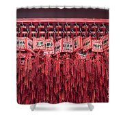 Lucky Wishes In Chinese Temple Shower Curtain