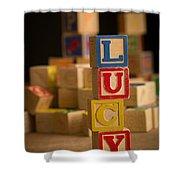 Lucy - Alphabet Blocks Shower Curtain