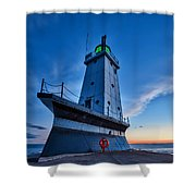Ludington Lighthouse Shower Curtain