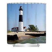 Ludington Michigan's Big Sable Lighthouse Shower Curtain