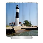 Ludington Michigan's Big Sable Lighthouse Shower Curtain