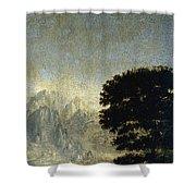 Ludlow Castle, Shropshire Shower Curtain