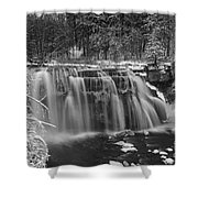 Ludlowville Falls In Winter I Shower Curtain