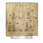 Ludwig Drum Pedal 3 Patent Art 1951 Shower Curtain