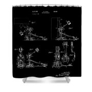Ludwig Drum Pedal 4 Patent Art 1951 Shower Curtain