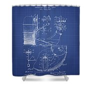 Ludwig Foot Pedal Patent From 1909 - Blueprint Shower Curtain