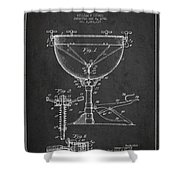 Ludwig Kettle Drum Drum Patent Drawing From 1941 - Dark Shower Curtain