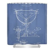Ludwig Kettle Drum Drum Patent Drawing From 1941 - Light Blue Shower Curtain