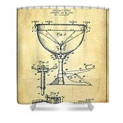 Ludwig Kettle Drum Drum Patent Drawing From 1941 - Vintage Shower Curtain