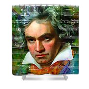 Ludwig Van Beethoven 20140122v2 Shower Curtain by Wingsdomain Art and Photography