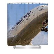 Lufthansa Airbus A-380 Shower Curtain