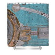 Lug Nut Wheel Left Turquoise And Copper Shower Curtain
