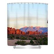 A Sandstone Landscape Shower Curtain