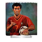 Luis Figo Shower Curtain by Paul Meijering