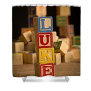 Luke - Alphabet Blocks Shower Curtain