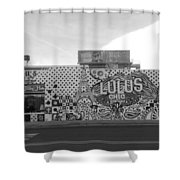 Lulu's Bw Shower Curtain