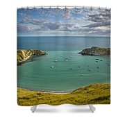 Lulworth Cove Evening Shower Curtain